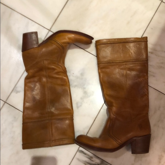 Frye Shoes - Frye leather light brown boots.  Perfect petina